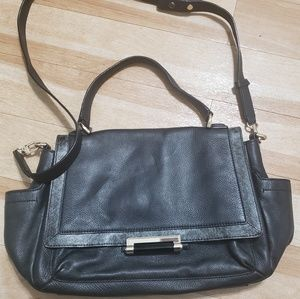 Diane Von Furstenberg Courier Leather Satchel
